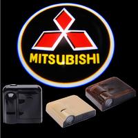 2PCS 5W Wireless Car Courtesy door LED Light Logo Projector ghost shadow Laser light for Mitsubishi Motors