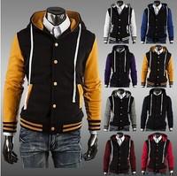 2014 Men's Fashion Jackets Baseball Shirt Baseball Uniform Jacket Free Shipping