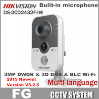 Free Shipping V5.2.0 DS-2CD2432F-IW,3MP HD 1080P Built-in microphone DWDR & 3D DNR & BLC Wi-FiWireless Wifi Hikvision Camera