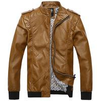 2014 winter Korean Fashionable Male Street prerequisite men motorcycle leather men's jackets Slim comfort 3 Color