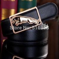 2014 men's genuine leather belt casual all-match leopard leather belts for men