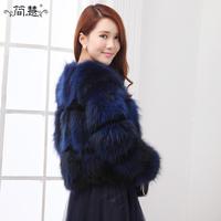 Women's Fashion real natrual Raccoon Dog Fur Coat Outwear Lady Garment female real Fur coat Women's outerwear real fur jacket