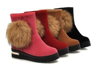 Free shipping 2014 hot sale Plus Size 34-43 New  Fashion Women Snow Boots Fur Inside Warm Women Ankle Boots Winter Shoes Woman