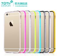 1pcs TOTU original Brand bumper frame PC + TPU bumper frame for Apple iPhone 6 4.7 inch soft bumper with retail package