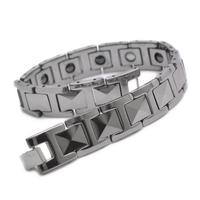 "Tungsten Magnetic Hematite Mens Bracelet 8.7"" JB666"