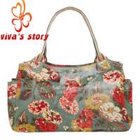 2014 new cath vintage women's pvc handbag shoulder bag women handbags floral vintage designer day bag with famous brand logo