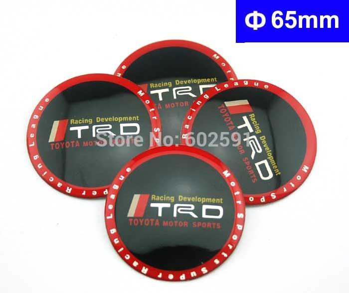 acessórios do carro roda calotas c053 adesivos emblema emblema 65mm 4 pcs toyota motor esporte trd rav4 corolla yaris camry reiz vios(China (Mainland))