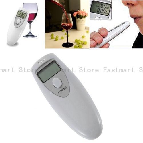 1Pcs/lot Brand New Prefessional Police LCD Breath Alcohol Test Digital Analyzer Breathalyzer Tester Meter Free shipping(China (Mainland))