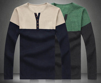 Free Shipping plus size clothing long sleeve sweater for men S022