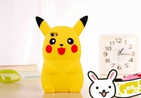 Fashion Cute Cartoon Case for iPhone 5 5S Cover 3D Japanese Pikachu Soft Silicone Rubber Shell Cover Case For iPhone5