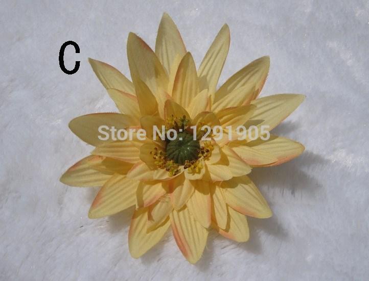 Free shipp high quality grey artificial flower lotus water lily vivid DIY accessory 12.5cm(China (Mainland))