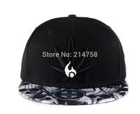 Hip Hop Baseball Flat Bill Hats Caps Snapback Hip-Hop Adjustable Canvas Cap Hat 011
