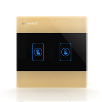Smart glass wall touch switch 86 single control panel 220V single FireWire 2open champagne