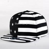 Hip Hop Baseball Flat Bill Hats Caps Snapback Hip-Hop Adjustable Canvas Cap Hat B016