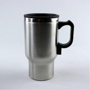 Stainless Steel 12V Car Cup Aquecimento carro elétrico Aquecimento caneca térmica Tipo de aquecimento bebida quente Viagem Cup ( Silver)(China (Mainland))