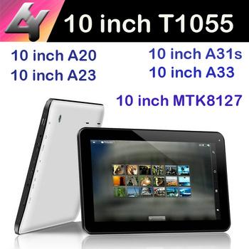 Allwinner семья таблетки 10 дюймов Allwinner а33 A31S A20 A23 андроид 4.4 смарт планшет пк двойная камера HDMI T1055