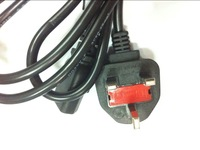 Hot sale  0.75mm British regulations With fuse GB three plug tail power line ,250V 13A 1.8mm  Power extension cords.