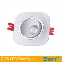 White shell color 12W COB led downlight Taiwan Litup High CRI>80 3 years warranty