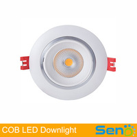 New design!12W COB LED recessed ceiling light 3 years warranty AC100-265V input CE approval