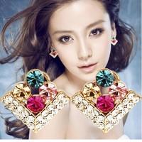 square shape lovely mix colour earrings E5