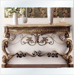 Continental Iron Console Tables Hall Tables half Roundtable entrance door wall cabinet entrance hall table sets worship table(China (Mainland))