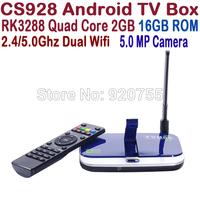 CS928 RK3288 TV BOX Quad Core 1.8GHz 2G/16G 2.5G/5G WIFI HDMI H.265 5.0MP Camera Mic Bluetooth Android 4.4 Smart TV Box XBMC