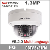 Free Shipping 3pcs/lot Hikvision V5.2.0 DS-2CD2112-I,1.3MP Dome Camera 960P POE Power Network IP66 Indoor WeatherProof IP Camera