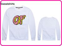 Stock Brand Odd Future Top Quality Free Shipping White Color OF Letter Print White Color Odd Future Sweatshirt-005