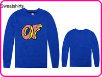 Stock Brand Odd Future Cheap Blue Color  Loose Pullover Jumper Animal Print Hoodie Warm Sweatshirt Size S M L XL XXL