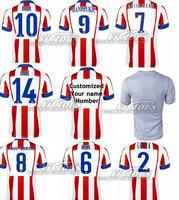 2015 GABI 14 jersey best quality man 14 15 ARDA 10 soccer jersey man home red white away gray football shrit can custom