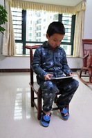 2014 new   kids clothing  boys sports wear cotton   kids   pyjamas sleepwear red skull pyjamas kids clothing sets
