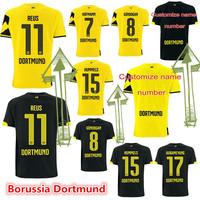 14 15 Borussia Dortmund soccer jersey top thai quality REUS HUMMELS football shirts custom name