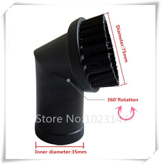 Free Shipping ! Vacuum Cleaner Brush, 35mm PP Rotatable Brush for Karcher Vacuum Cleaner etc.!(China (Mainland))