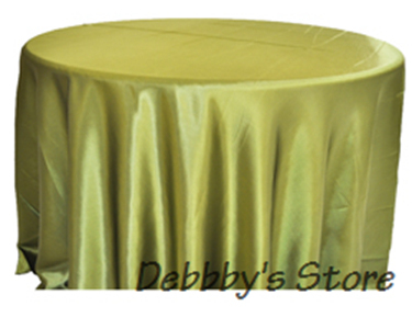 Willow green satin/polyester table covers for banquet(China (Mainland))