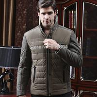 2014 Fall Winter Clothes Korean Men Cotton Padded Collar Casual Warm Jacket Men's Cozy Down Coats Male Parkas Short Overcoat