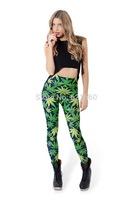 free shipping free size women female printed leggings pants trousers star Leggings
