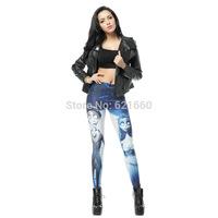 free shipping women female leggings NEW CORPSE BRIDE printed Leggings lady pencil pants wholesale DK230