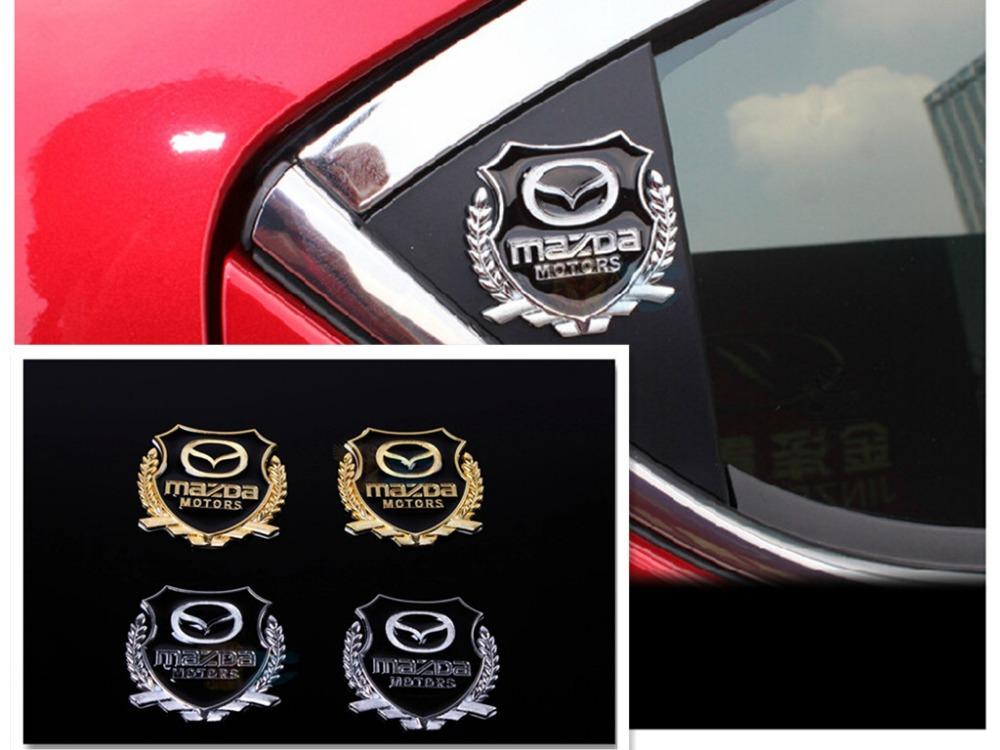 Auto parts Mazda 3 / right wing/star import/Leon g Sarah logo design/ car side window/door/rear metal decorative stickers(China (Mainland))