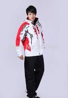 free shipping winter fashion men outdoor sports brand windproof waterproof ski pants warm ski clothing + camping hiking jacket