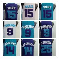 #9 Gerald Henderson #14 Kidd-Gilchrist #15 Kemba Walker #25 Al Jefferson #40 Cody Zeller jersey Rev 30 Charlotte Hornets jerseys