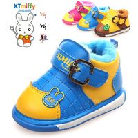 Hot-selling1pair PU Leather Baby Boots, Sound Girl/boy Soft Snow Boot Winter warm Children's boot, Brand KIDS Shoes