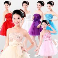 2015 new fashion Short bandage evening dress short  design short lace up formal dress