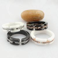 Titanium steel, ceramic, artificial diamond couple rings free shipping
