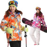 2014 Winter Feamle cotton-padded jacket outdoor waterproof windproof warm jacket ski suit womens Skiing jackets