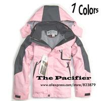 2014 Winter Brand Boys Girls Outdoor Jacket Kids Waterproof 2in1 Hiking Skiing Jackets Children Windproof Coat Outerwear