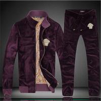 2014 fashion men's casual sportswear brand hoodie men hoodies, men's velvet suit jacket, Slim Men's Clothing