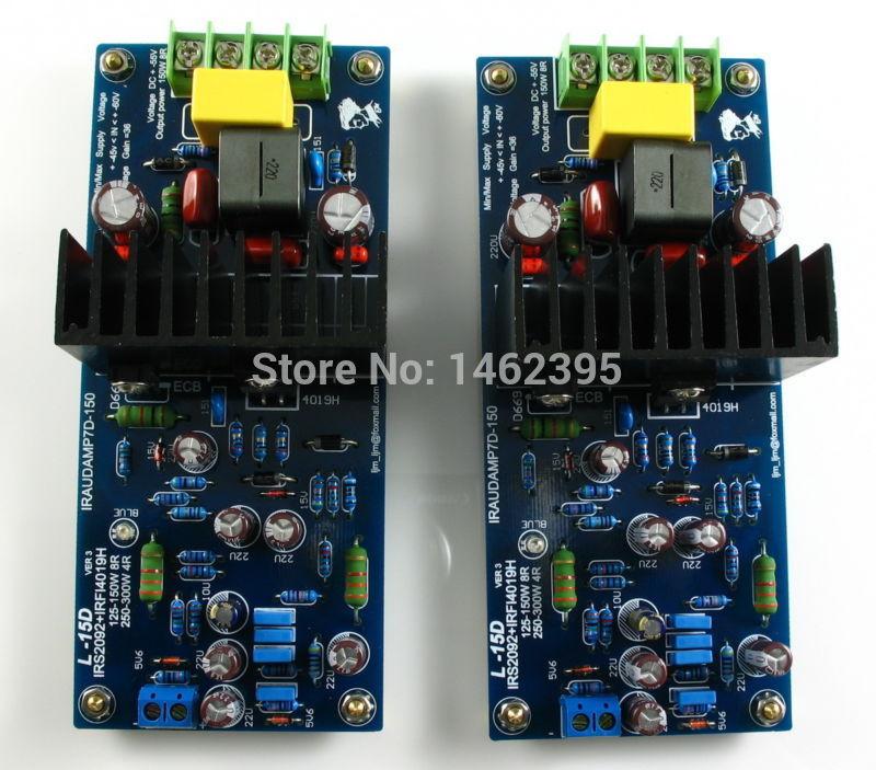 L15D Digital Audio amplifier kit IRS2092 IRFI4019H(China (Mainland))