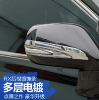 free shipping abs material decoration trim car rearview trim for lexus rx270/rx350