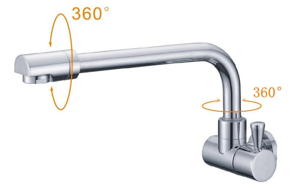 Keukenkraan Muur : Wall Mount Faucet Single Handle Bathroom Sink