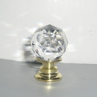 Free shipping 2pcs 20mm Small China Crystal Knobs Handle In Brass for Jewelry Box & Kitchen Dresser Drawer Kids Room furniture